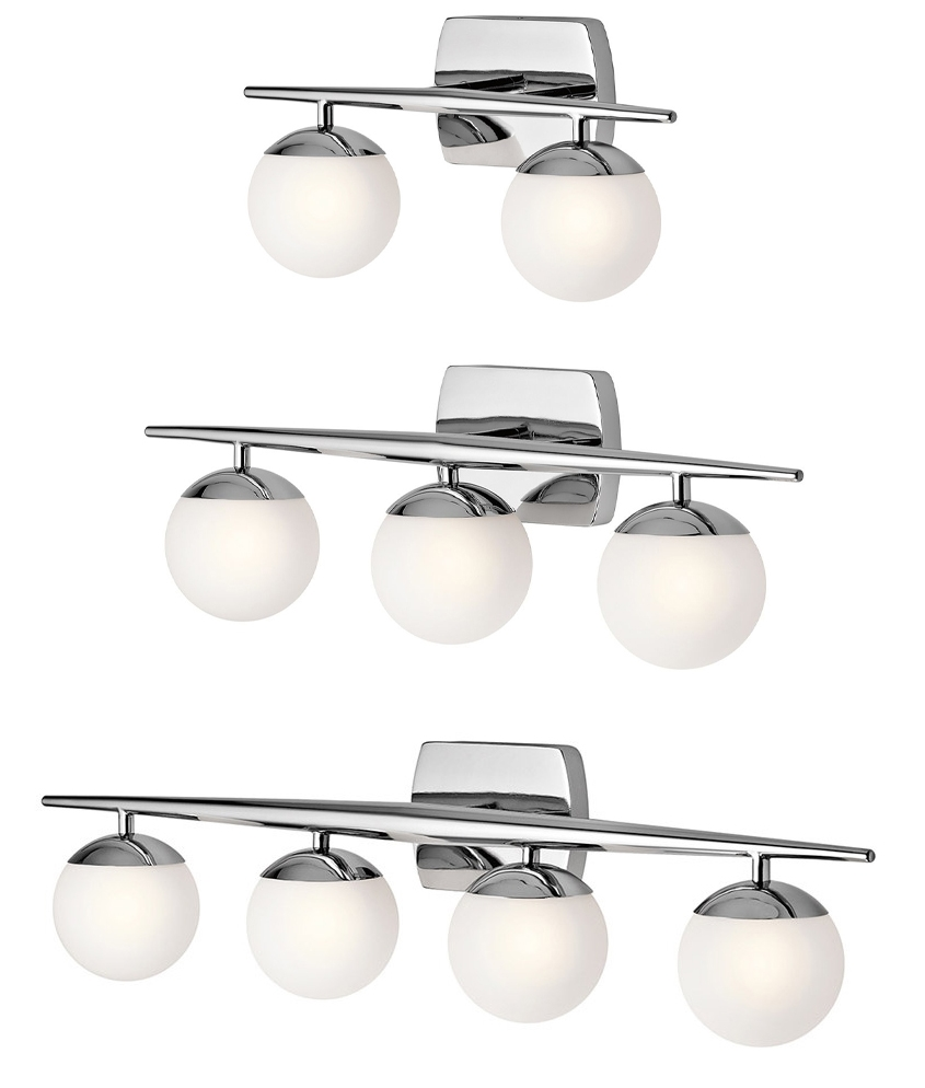 bathroom bar lights with globe glass