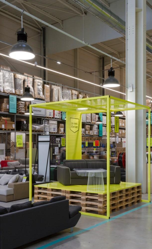 éclairage général grande surface meuble