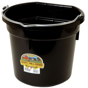 Flat back bucket black 8qt