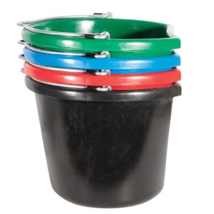 flatback bucket 20qt various colors