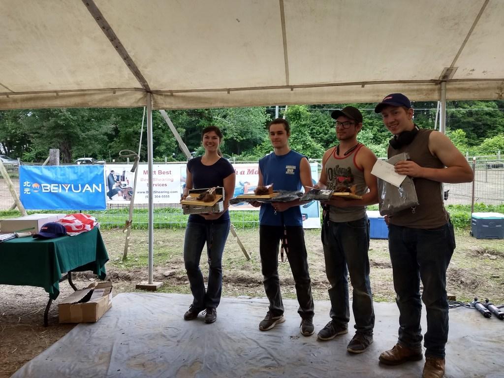 Apprentice Class North American Alpaca Shearing Contest 2018