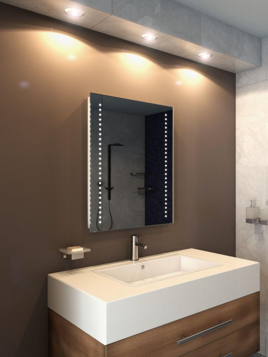 star tall led light bathroom mirror