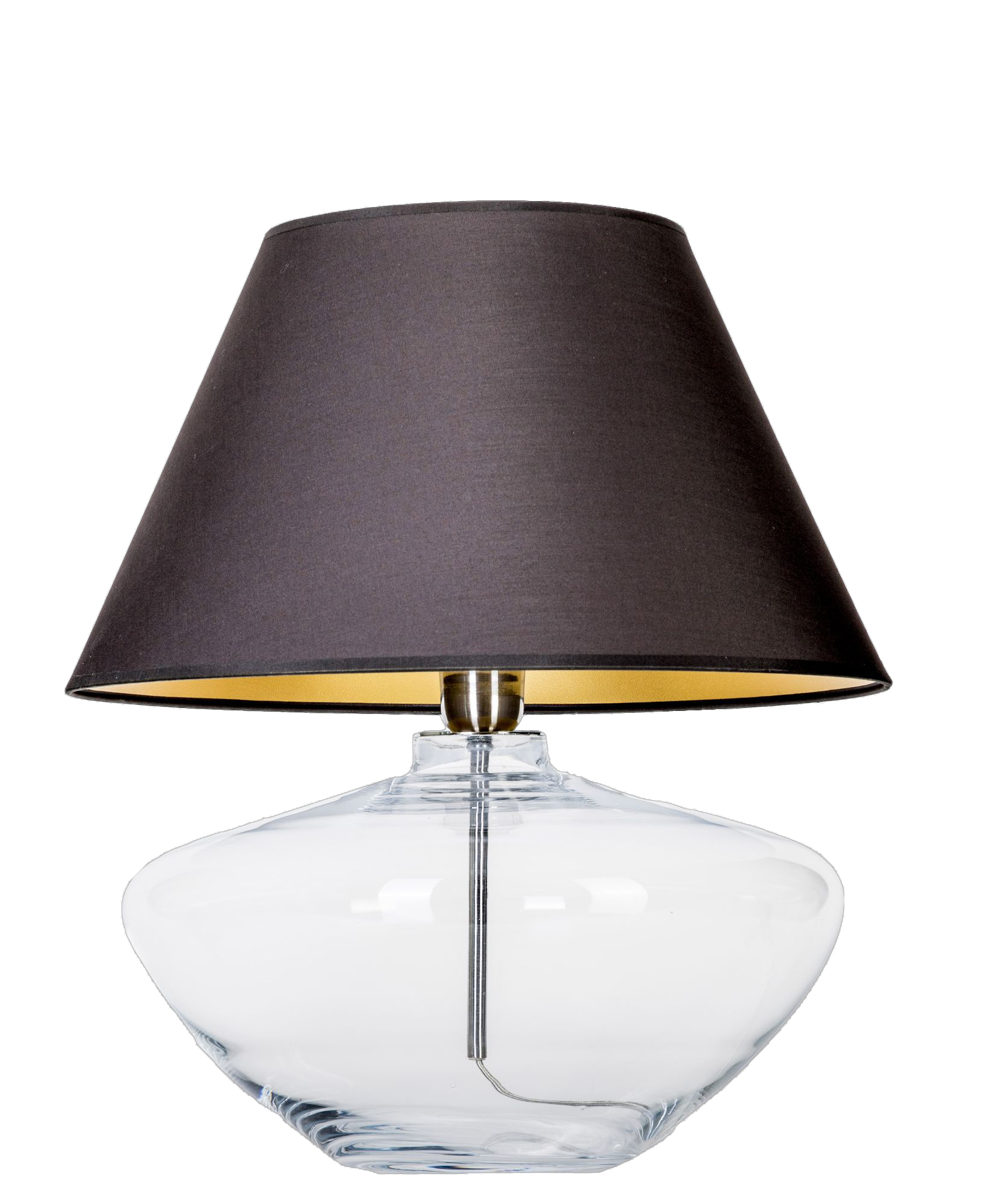 4 Concepts Madrid Clear Glass Table Lamp Black Gold
