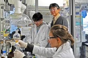 Osamu Ishitani in his laboratory.