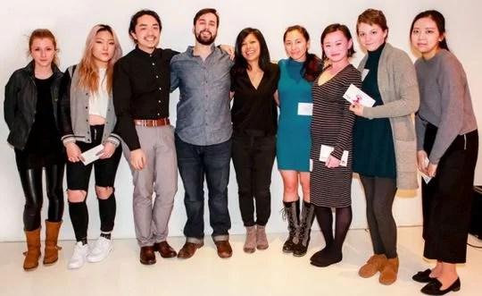 Left to right: Elena Ryu, Serena Kim, Zhijian Xiong, Samuel Powers, Leela Shanker, Diana Tsoy, Annie Ma, Audrey Krumenacker, Ye Lee Kim. Not pictured, Esther Chang.