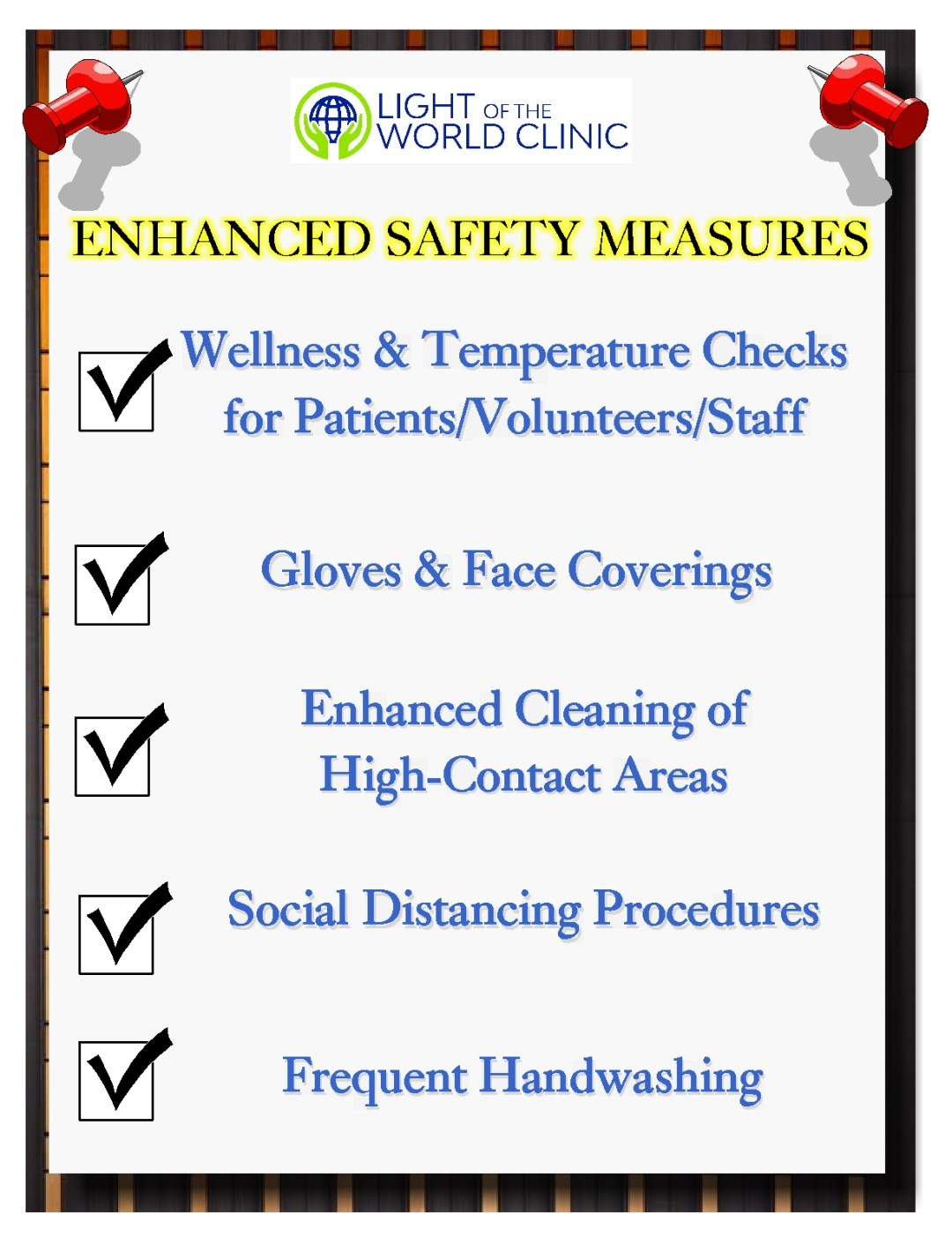 Clinic Safety Measures