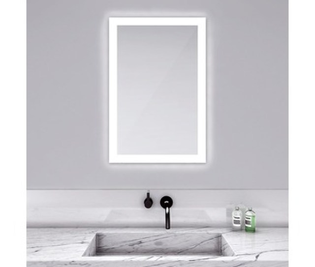 Silhouette Rectangle Lighted Mirror