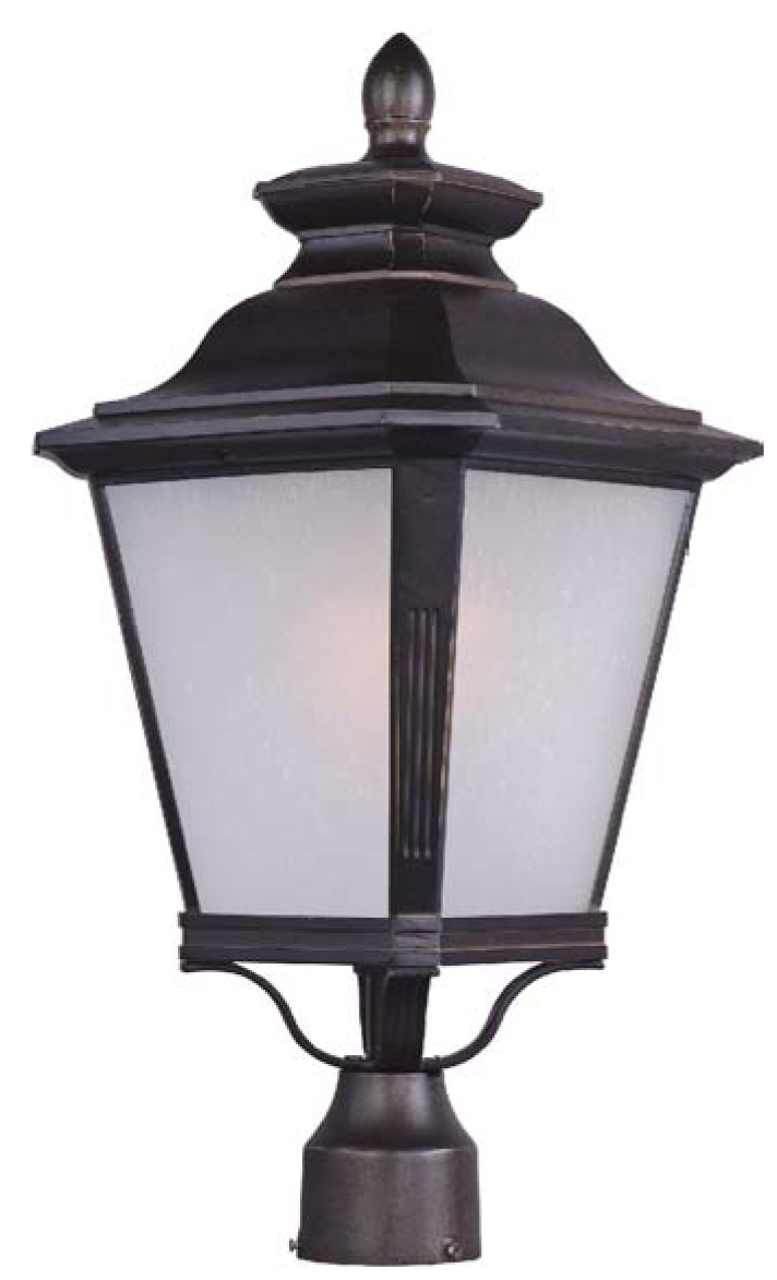 knoxville led outdoor post light by maxim lighting 51121fsbz