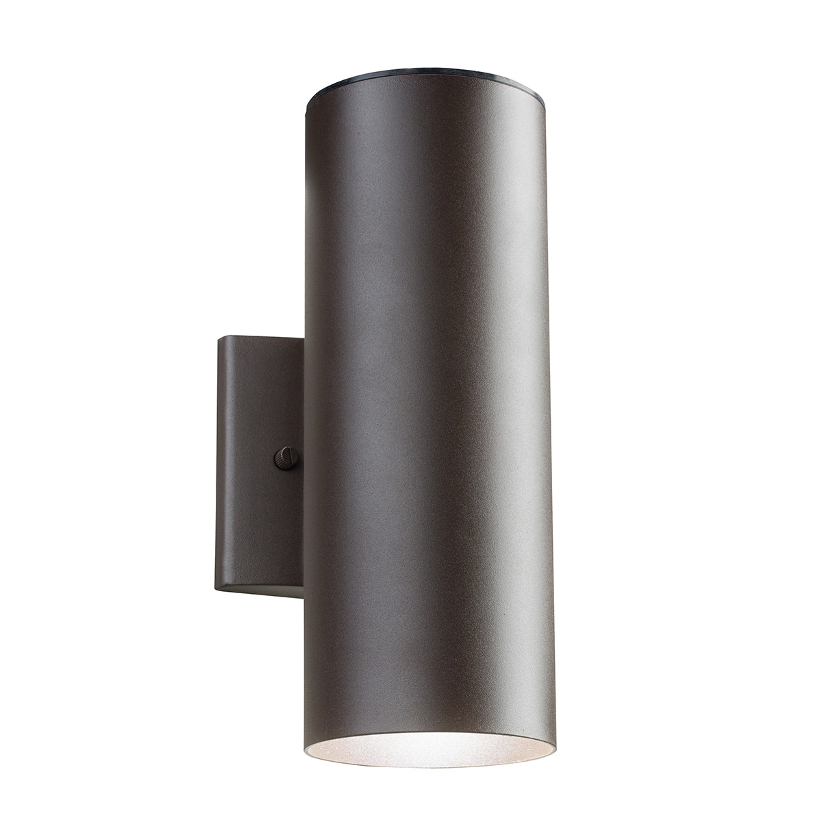 cylinder led up downlight wall sconce by kichler 11251azt30