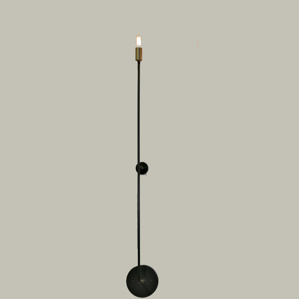 stick tall wall light by john beck steel jbsl scb 50 hw