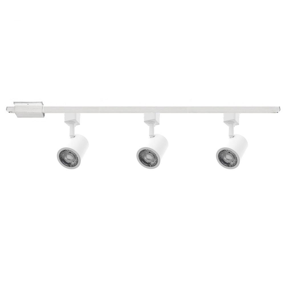 charge led 3 light track kit 120v by wac lighting h 8010 3 30 wt