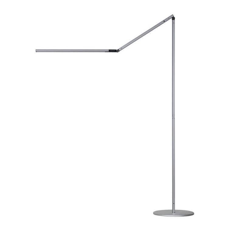 z bar floor argent lampe de lecture led h112cm