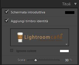 04-lightroom presentazione pannello titoli