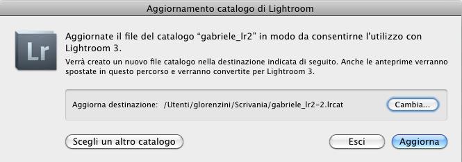 05 lightroom catalogo selezionare selezione scelta apri aprire