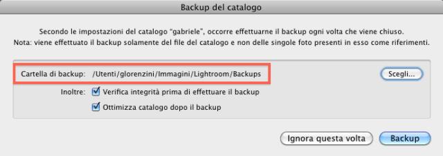 09 lightroom catalogo backup cartella backups folder
