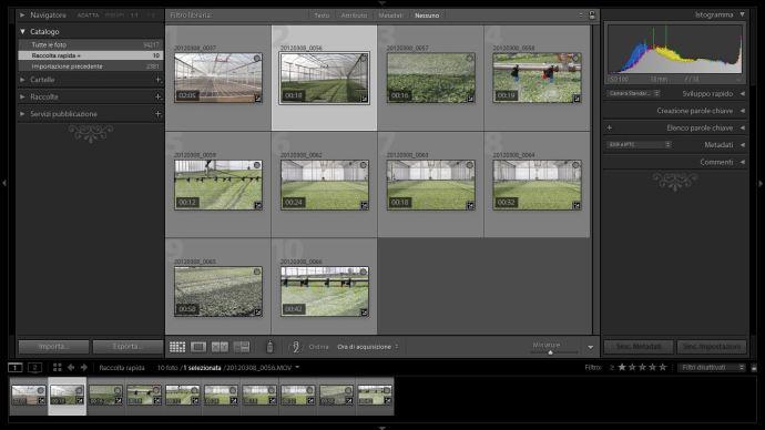 01 lightroom 4 video tagliare editing montaggio libreria tutorial corso gratuito