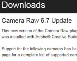 Adobe rilascia le nuove versioni di Camera Raw e DNG Converter!