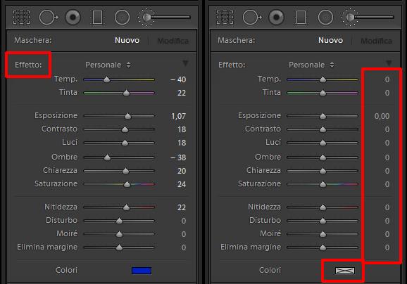 lightroom guida tutorial resettare cursori modulo Sviluppo 04