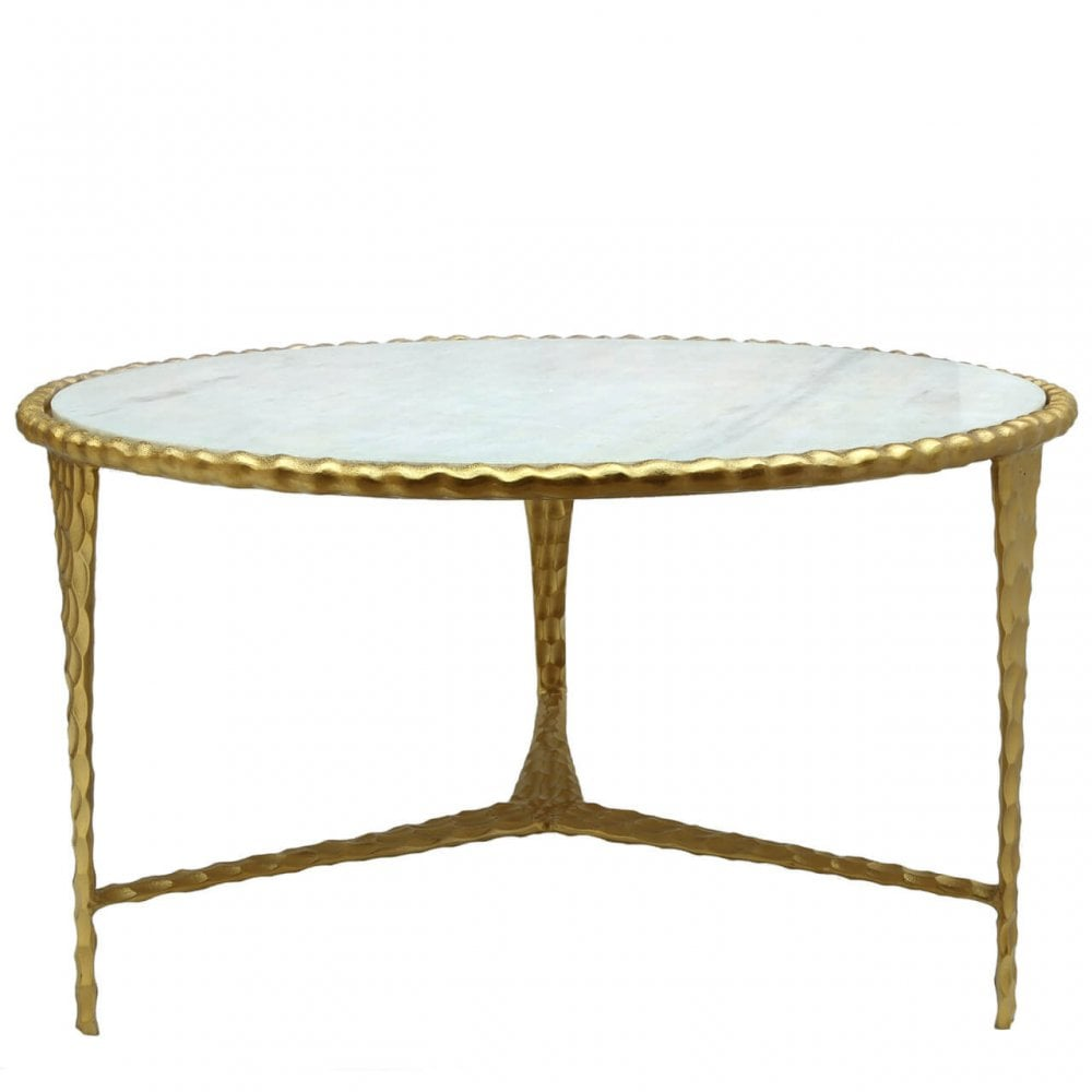 lights2go rhy001 rhys white marble top coffee table