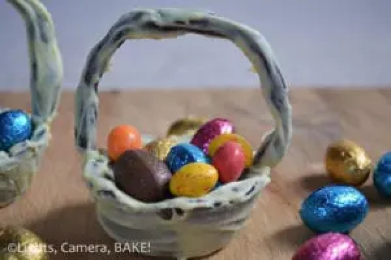 Rustic chocolate cookie easter baskets lights camera bake rustic chocolate cookie easter baskets a fun day of baking and decorating for the whole negle Image collections
