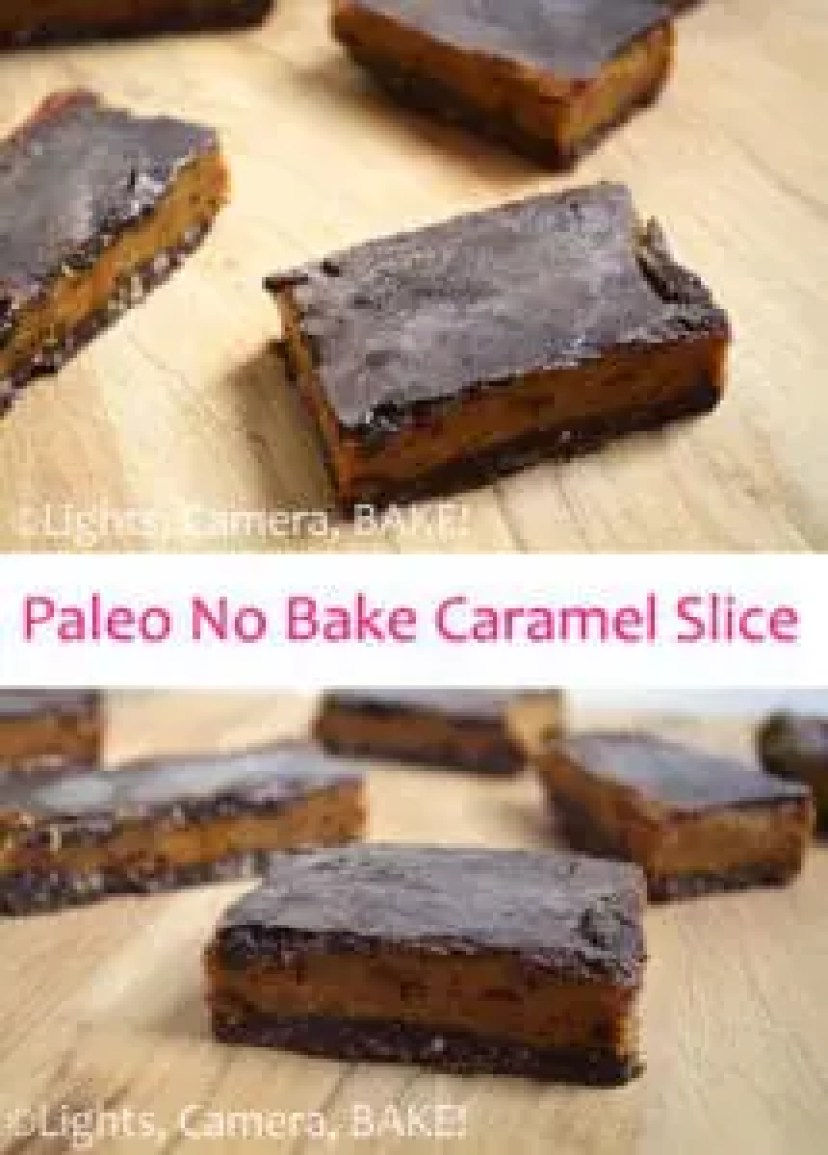 Paleo No Bake Caramel Slice is amazing! If you didn't know it was Paleo or 'healthy' you would never, EVER know. This slice is one you seriously want to try! Click the photo for the #recipe . #paleocaramelslice