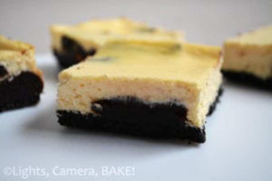 Chocolate Brownie Swirled Cheesecake Slice - Lights ...