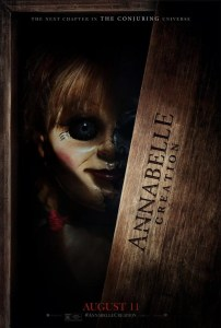 Annabelle Creation Poster. Film talk/movie review on Annabelle Creation can be found on lightscamera-bake.com. #annabellecreation #annabellemovie #horrormovie