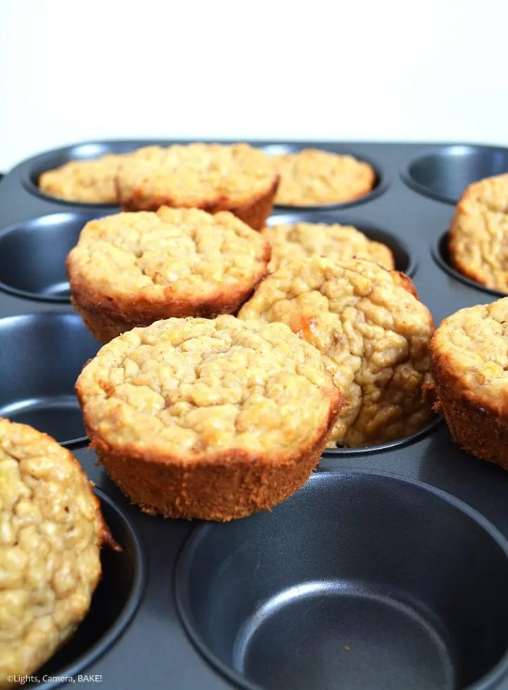 Healthy Banana Breakfast Muffins are dairy free, refined sugar free and vegan. Bananas really shine in these muffins have the flavours of maple syrup, oats and cinnamon.