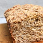 Banana Bread is the best of both worlds. Soft and moist like a cake but sliceable and totally acceptable to eat for breakfast. Packed full of protein from the Greek yoghurt, eggs and milk and, of course, bananas! #bananabread #bananacake #cinnamonbananabread #thebestbananabread #bananabreadrecipe