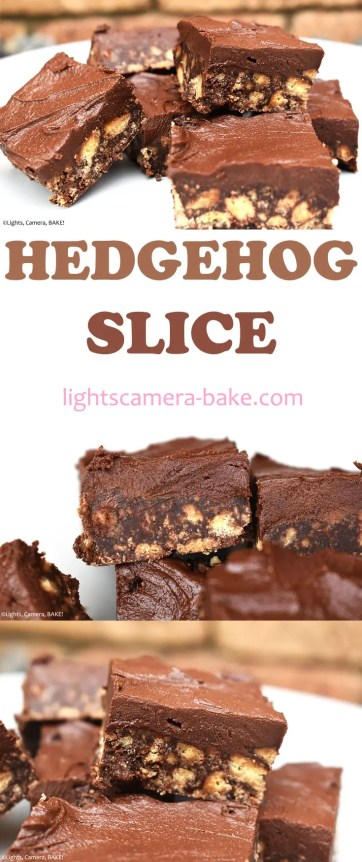 Hedgehog Slice is a classic no bake, chocolate fudge-like recipe that only requires a handful of ingredients and minimal time setting in the fridge. #hedgehogslice #chocolateslice #chocolatefduge #chocolatehedgehogslice #fudgerecipe
