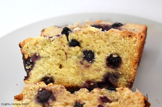 Blueberry and white chocolate loaf.