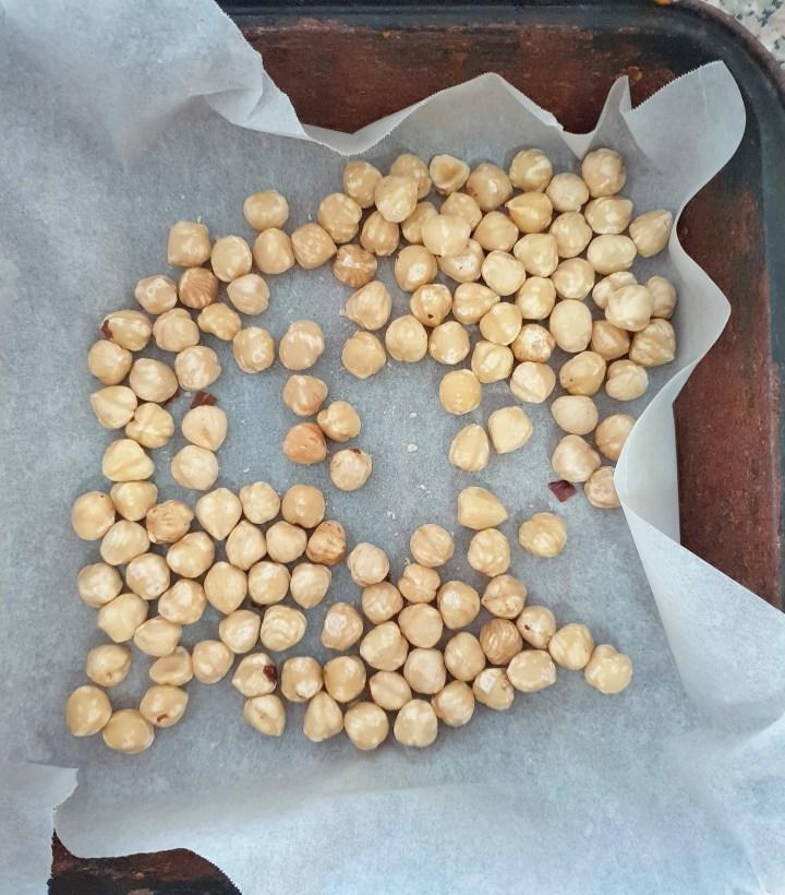 Hazelnuts ready to be roasted.