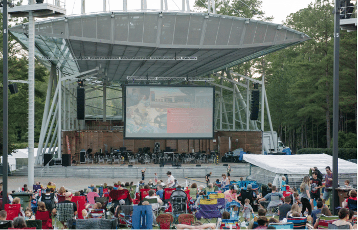 WakeMed Movies by Moonlight at Koka Booth Amphitheatre