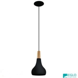 180mm Eglo Brushed Black Sabinar Pendant Light