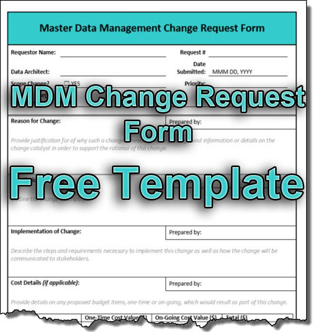 MDM Change Request Form