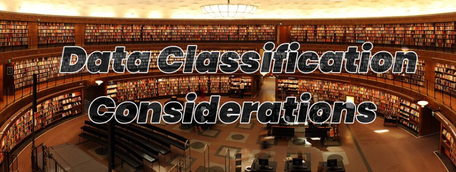 data classification considerations