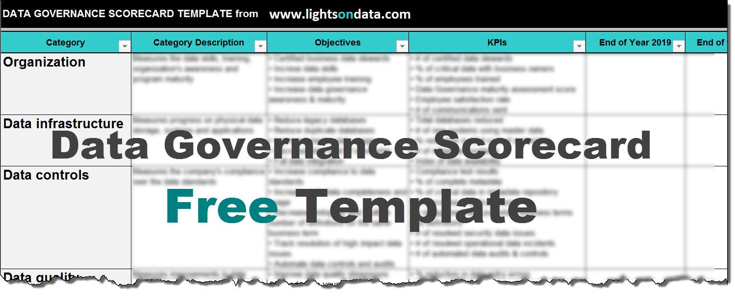 How To Create A Data Governance Scorecard Free Template LightsOnData - Scorecard template