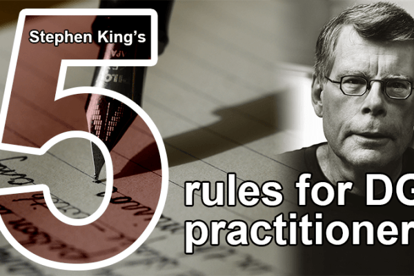 Stephen King's 5 rules for data governance practitioners