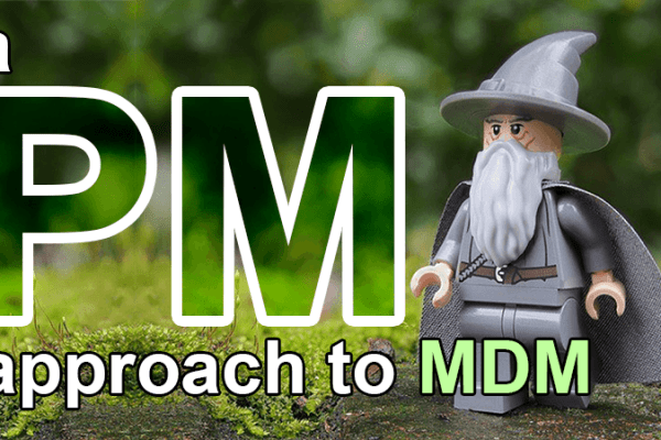 a project manager approach to MDM