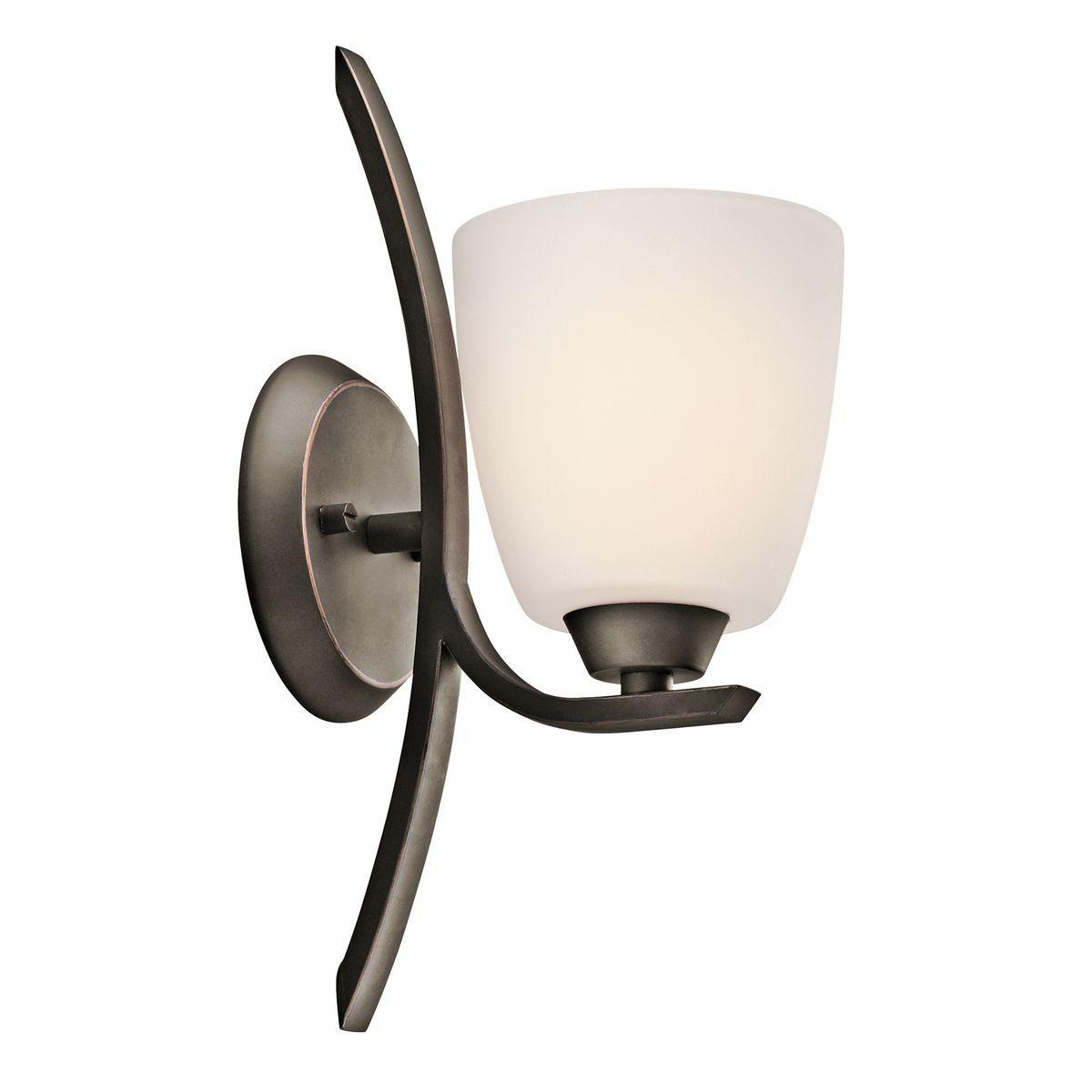 Kichler Granby 1-Light Wall Sconce in Olde Bronze - Wall ... on Kichler Olde Bronze Wall Sconce id=59814