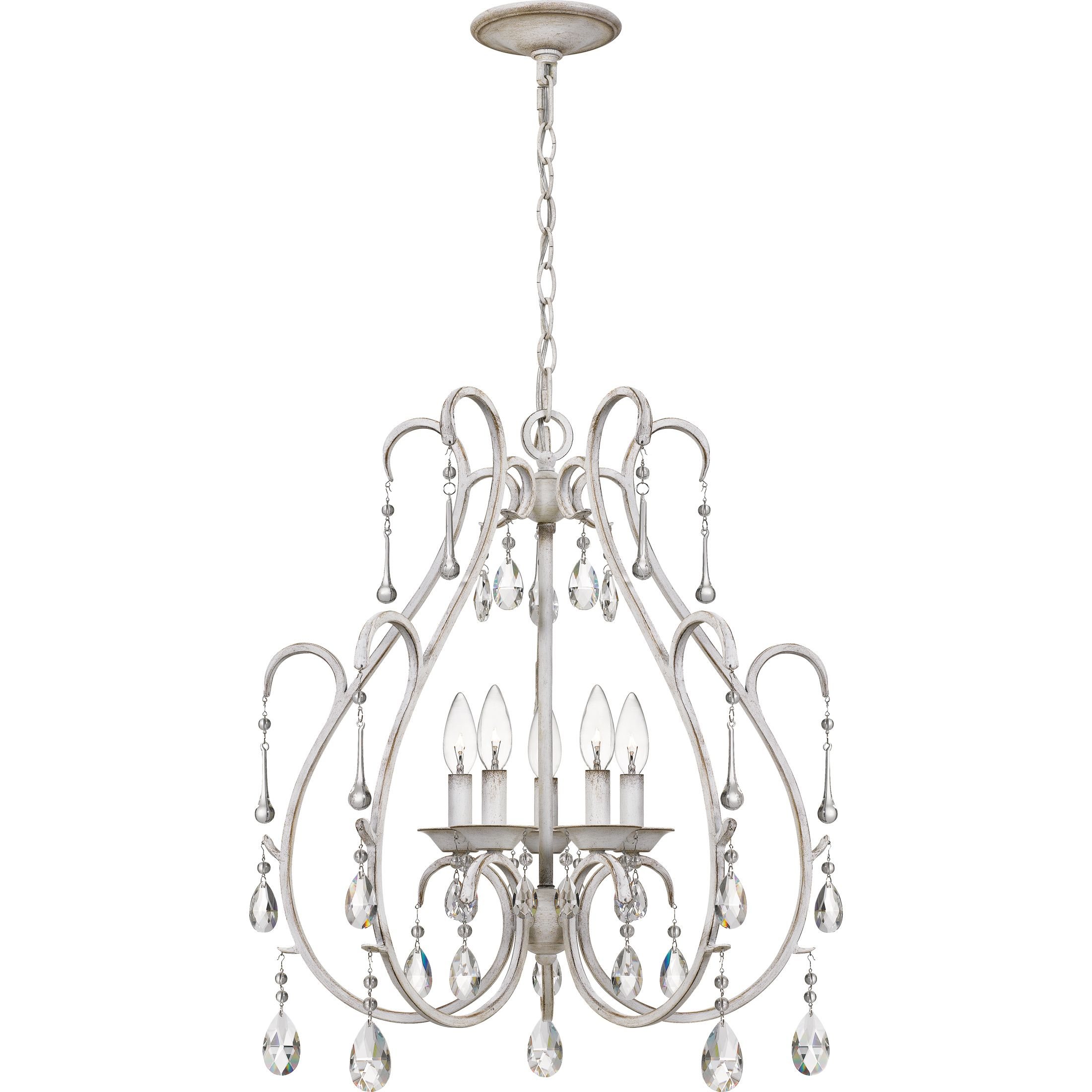 Quoizel Blanca 5 Light 25 Transitional Chandelier In