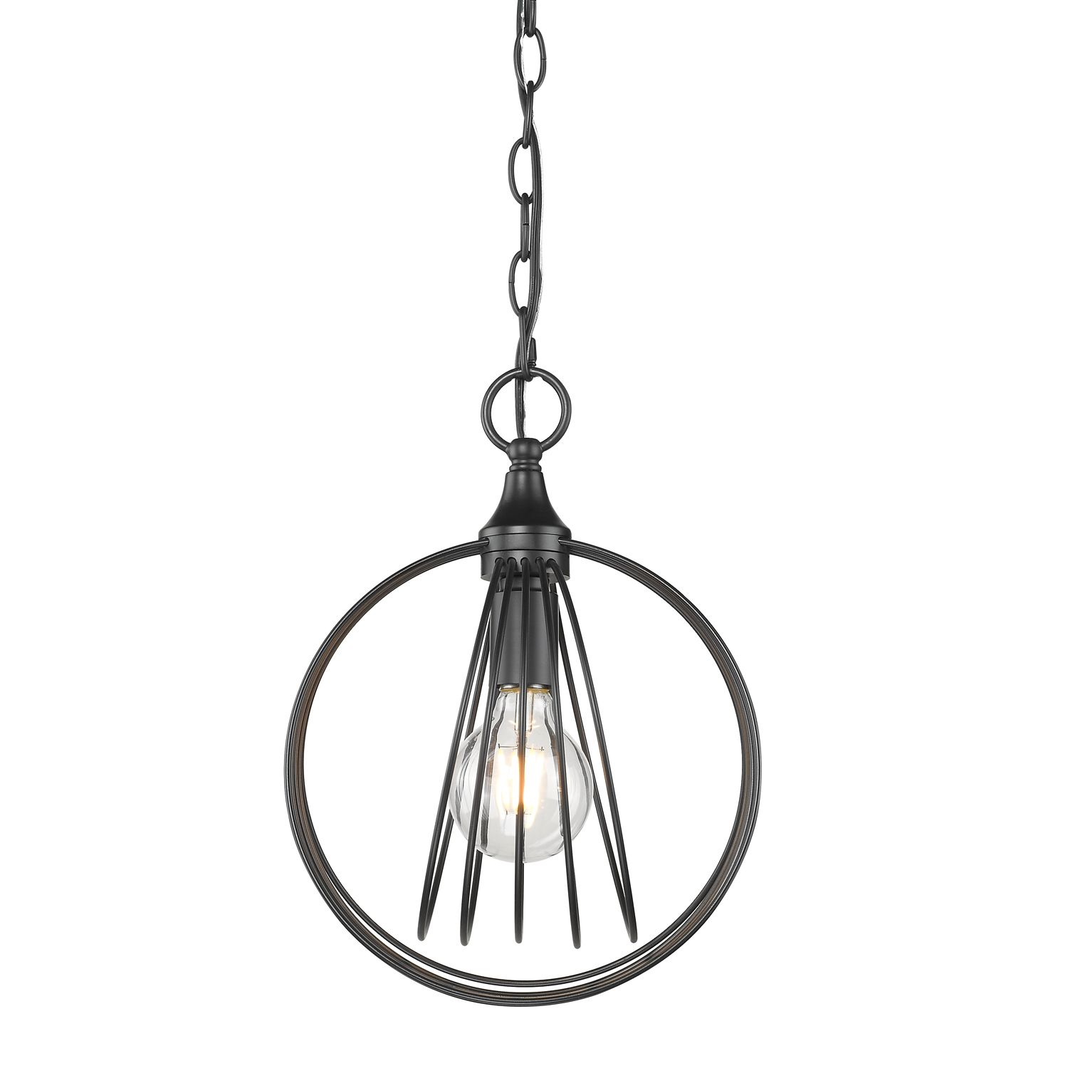 Golden Lighting Quinn 10 Mini Pendant In Black