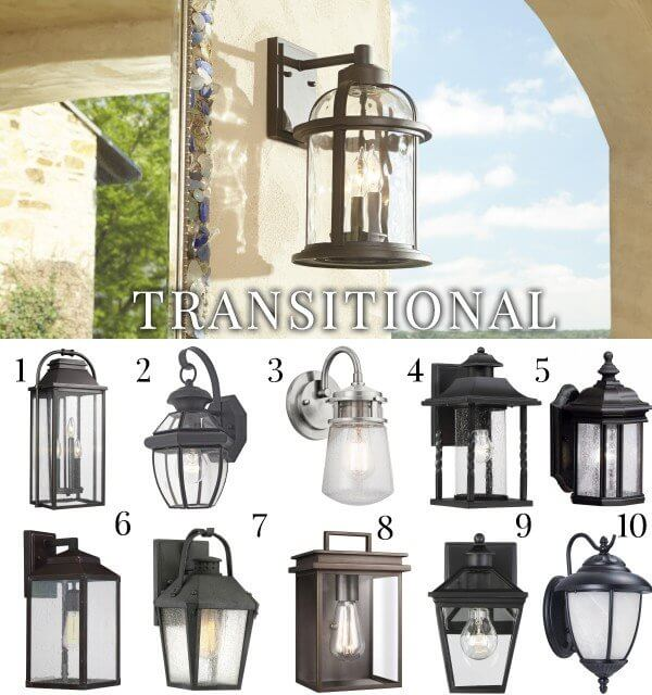 transitional style light fixtures