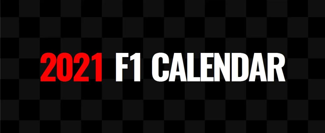 2021 F1 Calendar Lights Out