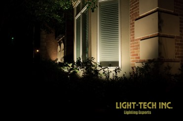 Uplights to highlight house