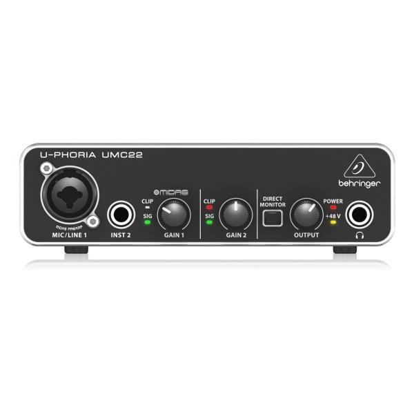 UMC22 : Audiophile 2x2 USB Audio Interface with Midas Mic Preamplifier