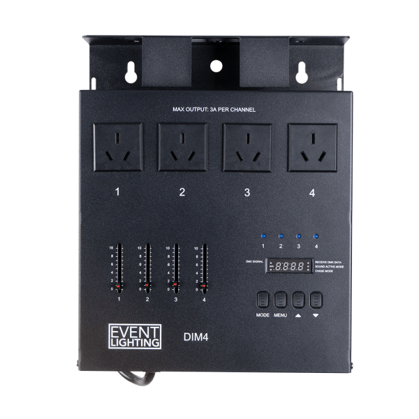 Event Lighting DIM4 - 4 channel DMX Dimmer/Switch