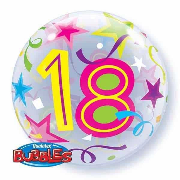 Qualtex 56cm Foil 18th Birthday Helium Balloon