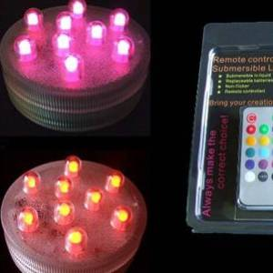 Set of 4 LED Submersible Lights with Remote