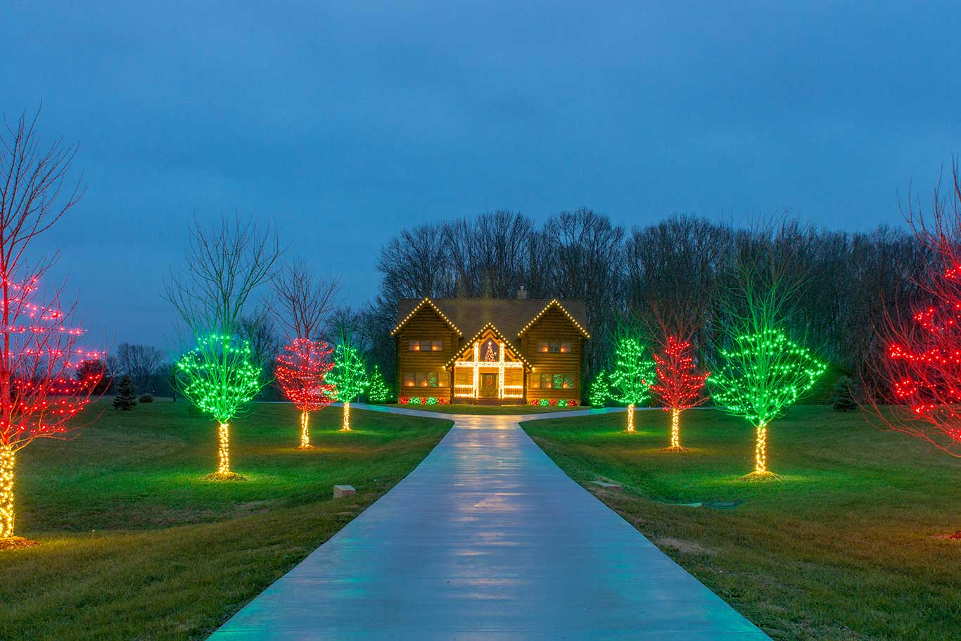 Christmas Light Display Residential Outdoor